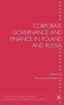 Corporate Governance and Finance in Poland and Russia - cover