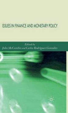 Issues in Finance and Monetary Policy - cover