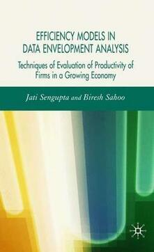 Efficiency Models in Data Envelopment Analysis: Techniques of Evaluation of Productivity of Firms in a Growing Economy - Jati K. Sengupta,Biresh Sahoo - cover