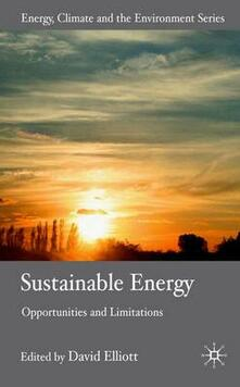 Sustainable Energy: Opportunities and Limitations - cover