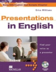 Presentations in English Student's Book & DVD Pack - Erica Williams - cover