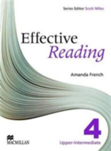 Effective Reading Upper Intermediate Student's Book - Amanda French - cover
