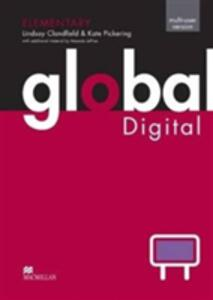 Global Elementary Digital Multiple User (20 Users) (Whiteboard Software) - Lindsay Clandfield,Kate Pickering - cover