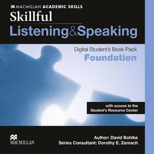 Skillful Foundation Level Listening & Speaking Digital Student's Book Pack - Steve Gershon,Mike Boyle,Jennifer Bixby - cover
