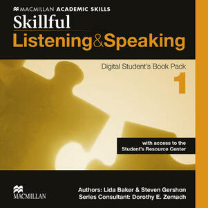 Skillful Level 1 Listening & Speaking Digital Student's Book Pack - Steve Gershon,Mike Boyle,Jennifer Bixby - cover