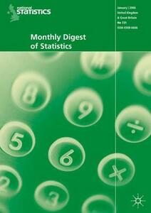 Monthly Digest of Statistics Vol 733, January 2007 - Office for National Statistics - cover