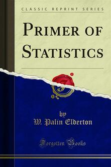 Primer of Statistics