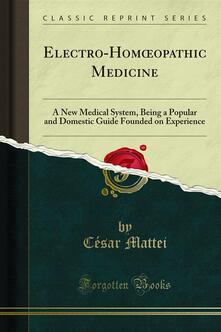 Electro-Homoopathic Medicine