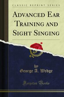Advanced Ear Training and Sight Singing