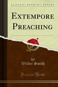 Extempore Preaching