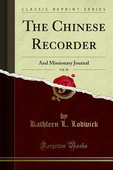 The Chinese Recorder