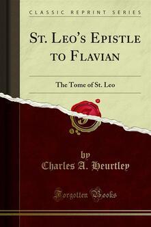 St. Leo's Epistle to Flavian