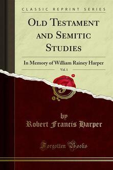 Old Testament and Semitic Studies