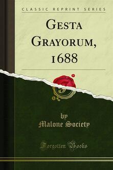 Gesta Grayorum, 1688