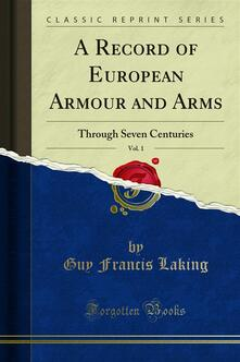 A Record of European Armour and Arms
