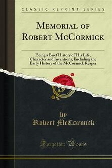 Memorial of Robert McCormick