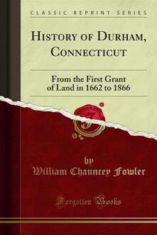 History of Durham, Connecticut