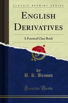 English Derivatives