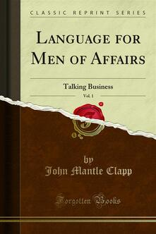 Language for Men of Affairs