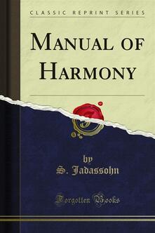 Manual of Harmony