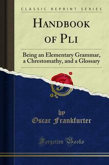 Handbook of Pali