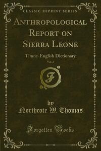 Anthropological Report on Sierra Leone