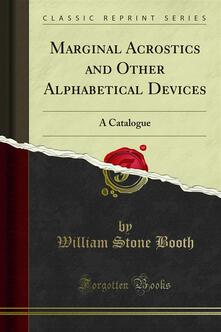 Marginal Acrostics and Other Alphabetical Devices