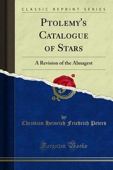 Ptolemy's Catalogue of Stars