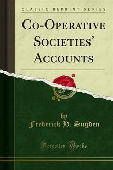 Co-Operative Societies' Accounts