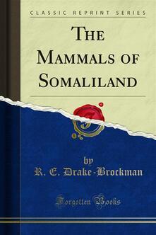 The Mammals of Somaliland