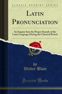 Latin Pronunciation