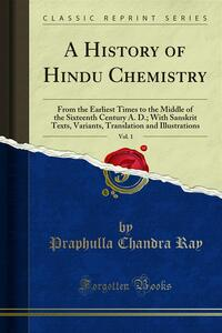 A History of Hindu Chemistry