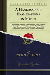 A Handbook of Examinations in Music