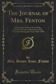 The Journal of Mrs. Fenton