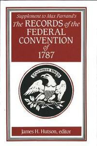 Supplement to Max Farrand's Records of the Federal Convention of 1787 - cover