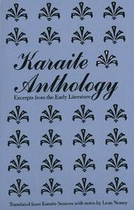 Karaite Anthology: Excerpts from the Early Literature - Leon Nemoy - cover