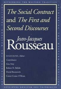 The Social Contract and The First and Second Discourses - Jean-Jacques Rousseau - cover