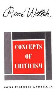 Concepts of Criticism - Rene Wellek - cover
