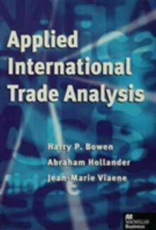 Applied International Trade Analysis - Harry P. Bowen,etc.,Abraham Hollander - cover