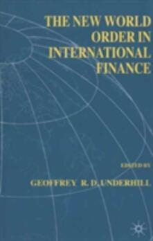The New World Order in International Finance - cover