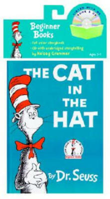 The Cat in the Hat Book & CD - Dr Seuss - cover