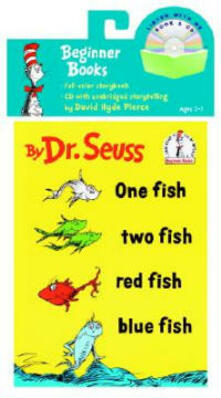One Fish, Two Fish, Red Fish, Blue Fish Book & CD - Dr Seuss - cover