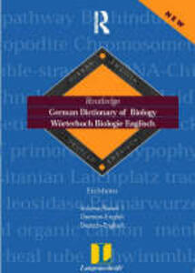 German Dictionary of Biology Vol 1: Worterbuch Biologie (German-English) - cover