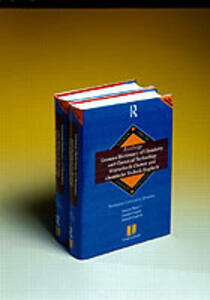 Routledge German Dictionary of Chemistry and Chemical Technology Worterbuch Chemie und Chemische Technik: Vol 2: English-German - Gross - cover
