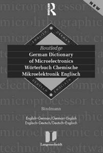 German Dictionary of Microelectronics/Worterbuch Mikroelektonik Englisch: English-German/German-English - Werner Bindmann - cover