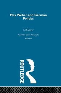 Max Weber & German Poltcs  V 4 - cover