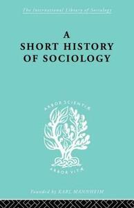 A Short History of Sociology - Heinz Maus - cover