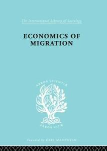 Economics of Migration - Julius Issac - cover