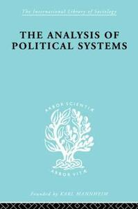 The Analysis of Political Systems - Douglas V. Verney - cover