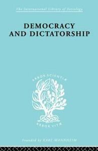 Democracy and Dictatorship: Their Psychology and Patterns - Zevedei Barbu - cover